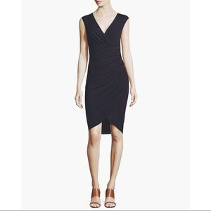 Michael Kors collection navy ruched wrap dress